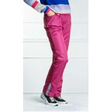 Подростковые утепленные брюки для девочки, цвет-брусника