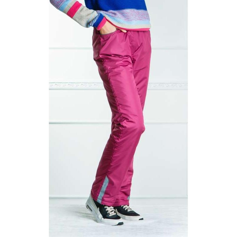 Подростковые утепленные флисом брюки для девочки, цвет-брусника