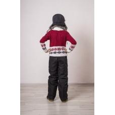 Подростковые брюки, утепленные синтепоном на мальчика,  цвет- черный