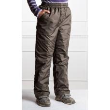 Подростковые брюки, утепленные синтепоном на мальчика,  цвет- хаки