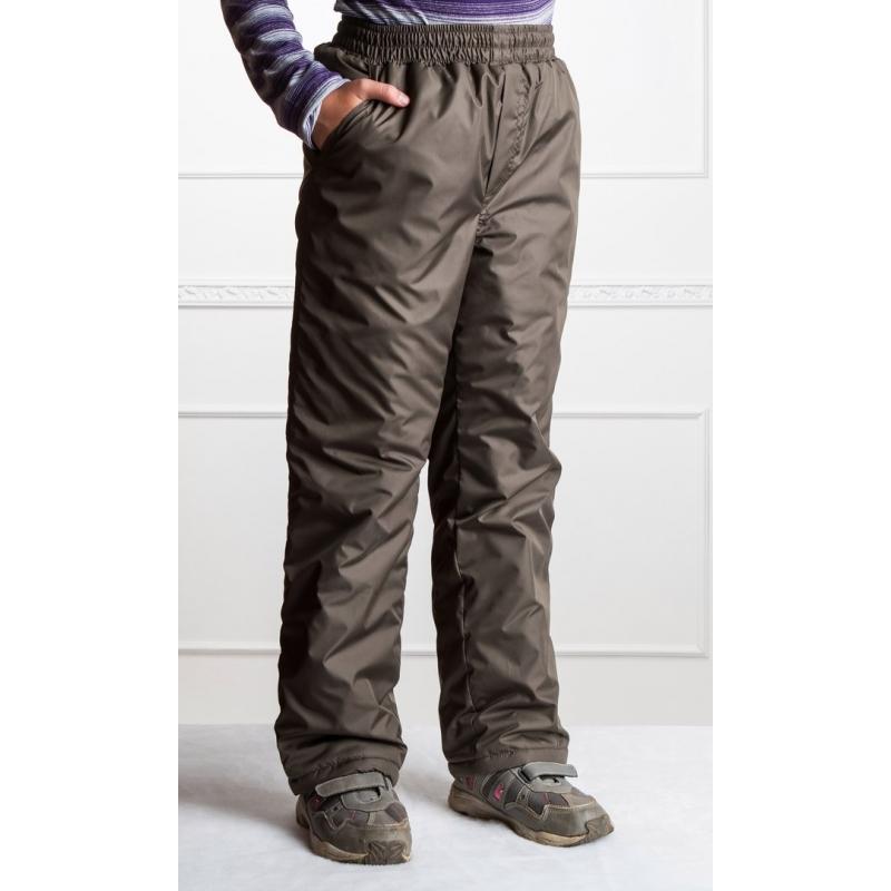 Подростковые брюки, утепленные флисом на мальчика,  цвет- хаки
