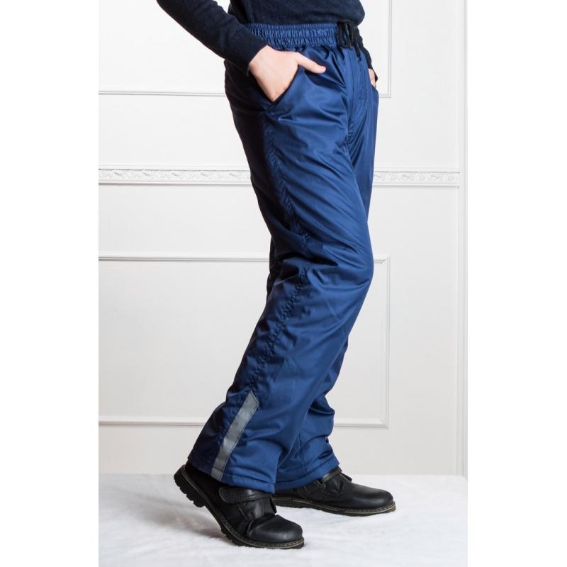 Подростковые брюки, утепленные синтепоном на мальчика,  цвет- синий
