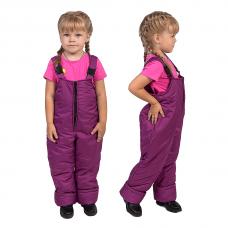 Полукомбинезон детский с утеплителем синтепон, цвет - брусника