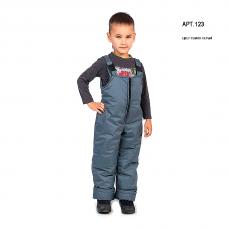 Полукомбинезон детский с утеплителем синтепон, цвет - темно-серый