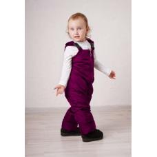 Полукомбинезон детский с утеплителем флис, цвет- фуксия
