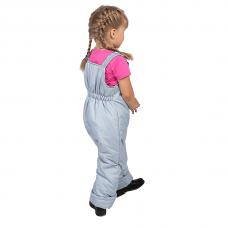 Полукомбинезон детский с утеплителем синтепон, цвет - серый