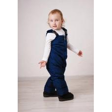 Полукомбинезон детский с утеплителем -флис, цвет - синий