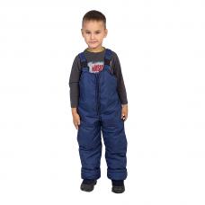 Полукомбинезон детский с утеплителем синтепон, цвет - синий