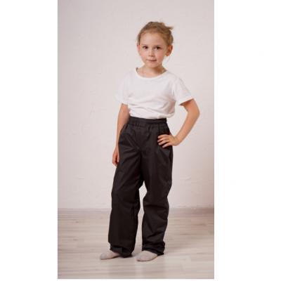 Детские утепленные брюки,с утеплителем -флис, цвет-черный