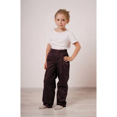 Детские утепленные брюки,с утеплителем -флис, цвет-шоколад