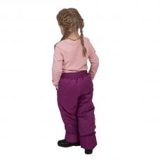Детские зимние брюки,с утеплителем -синтепон, цвет-брусника