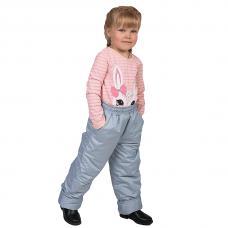Детские зимние брюки,с утеплителем -синтепон, цвет-серый