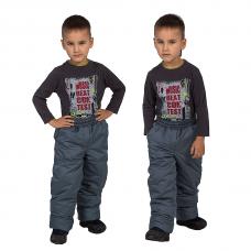 Детские зимние брюки,с утеплителем -синтепон, цвет-темно-серый