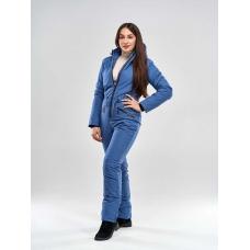 Зимний женский комбинезон, из мембранной ткани, цвет -джинса