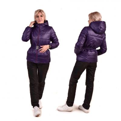 Костюм утепленный женский из курточной ткани, цвет-фиолетовый