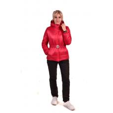 Костюм утепленный женский из курточной ткани, цвет -красный