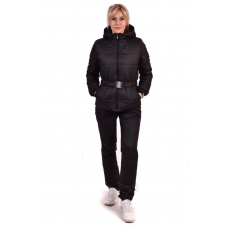 Костюм утепленный женский из курточной ткани, цвет-черный