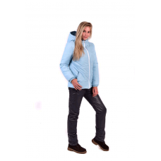 Костюм утепленный женский из курточной ткани, цвет-голубой