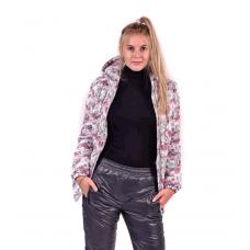 Костюм утепленный женский из курточной ткани, принт-оригами