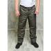 Утепленные флисом мужские брюки на поясе молния. цвет-хаки