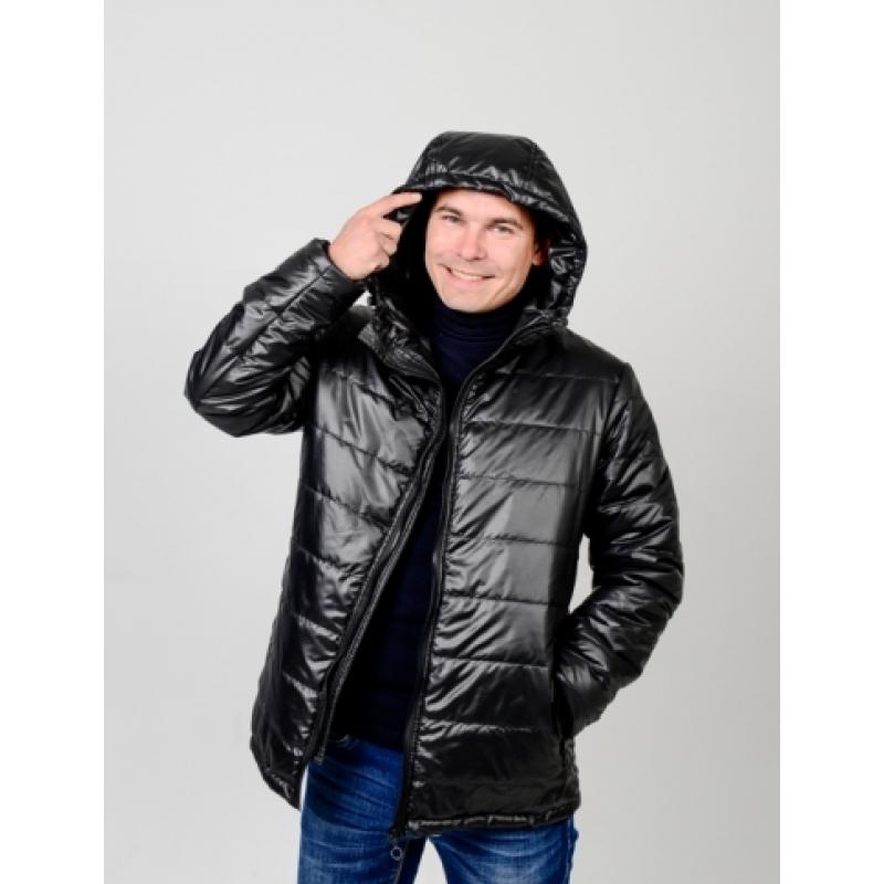Куртка мужская демисезонная,с утеплителем,цвет-черный
