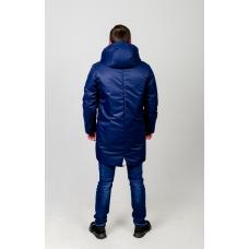 Куртка парка мужская демисезонная,с утеплителем.Цвет-синий