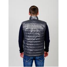 Утепленный мужской жилет без капюшона,цвет-серый