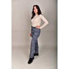Утепленные женские брюки с высокой спинкой, цвет- графит