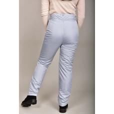 Утепленные женские брюки с высокой спинкой, цвет- светло-серый