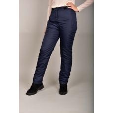 Утепленные женские брюки с высокой спинкой, цвет- темно-синий