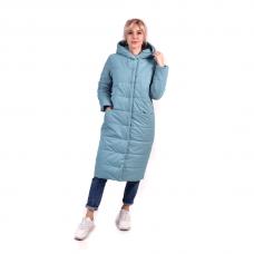 """Пальто зимнее в стиле """"оверсайз"""" , цвет - аква"""