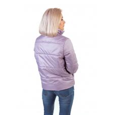 Утепленная  женская куртка с обьемным карманом, цвет-лиловый