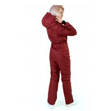 Зимний женский комбинезон, из мембранной ткани,  цвет- аджика
