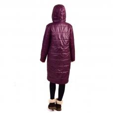 """Пальто зимнее в стиле """"оверсайз"""" , цвет - бордо"""