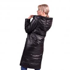"""Пальто зимнее в стиле """"оверсайз"""" , цвет - черный"""
