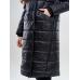 Длинное женское пальто  для еврозимы,цвет-черный