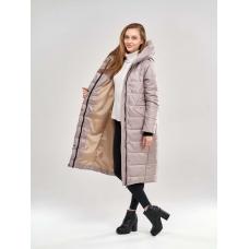 Длинное женское пальто  для еврозимы,цвет - бежевый