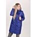 Пальто женское  с  капюшоном,  цвет -синий
