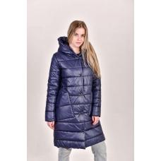 Полупальто облегченное  с накладными карманами, цвет-синий
