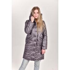 Пальто женское с  капюшоном. цвет-эскалибур