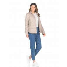 Утепленная  женская куртка-рубашка,цвет-бежевый