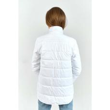Утепленная  женская куртка-рубашка,цвет-белый