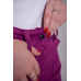 Утепленные женские брюки на поясе-молния, цвет -брусничный