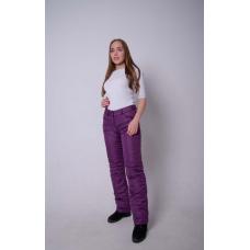 Утепленные женские брюки на поясе-молния, цвет -фиолетовый