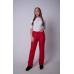 Утепленные женские брюки на поясе-молния, цвет -красный