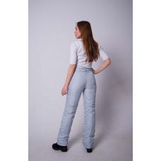 Утепленные женские брюки на поясе-молния, цвет -серый