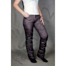 Утепленные женские брюки на поясе-молния, цвет -черный