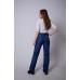 Утепленные женские брюки на поясе-молния, цвет -синий