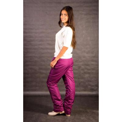 Утепленные женские брюки на поясе-резинке, цвет - брусника