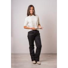 Утепленные женские брюки на поясе-резинке,цвет - черный